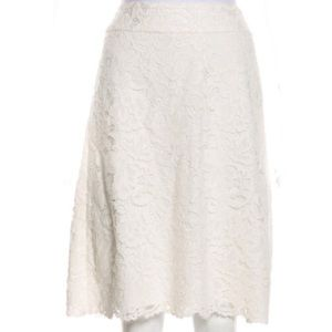 Kate Spade A-Line off white lace skirt size 16.